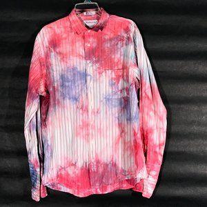 Burberry Custom Shirt Tie Dye Size 17.5  Striped